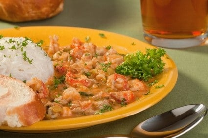 plate of creole food