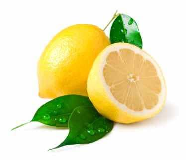 whole lemon and cut lemon