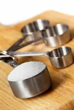 sugar in a measuring cup