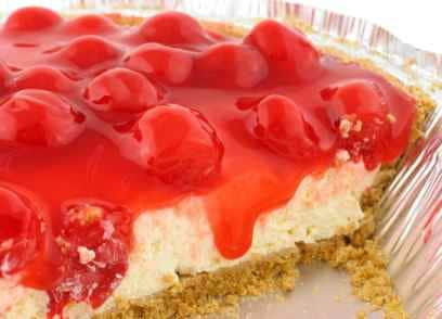 a piece of cheese cake