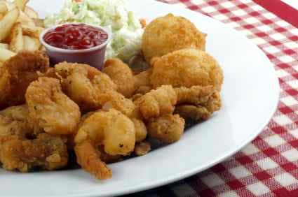 fried shrimp on a plate