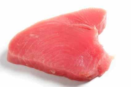 raw fish tuna steak