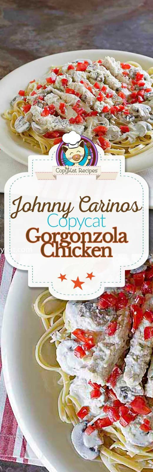 Recreate Johnny Carinos Gorgonzola Chicken at home with this copycat recipe.