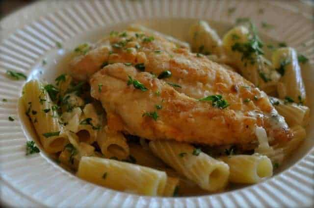 chicken with gorgonzola sauce