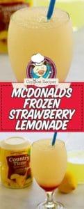 frozen lemonade photo collage