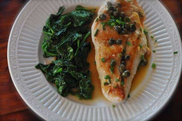 chicken piccata light with weight watcher points