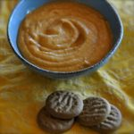 pumpkin pie dip and gingersnap cookies