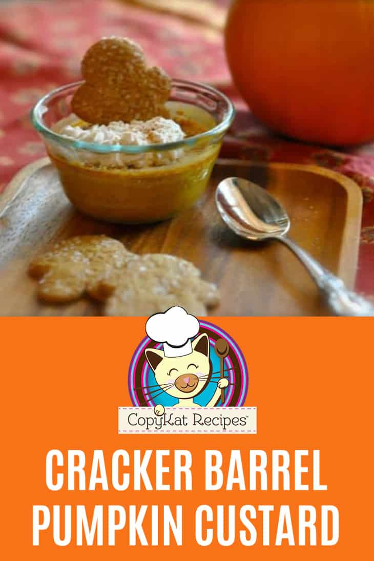 homemade copycat Cracker Barrel Pumpkin custard