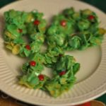 Christmas Wreaths made with Corn Flakes