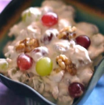 grape salad with walnuts and cream cheese dressing