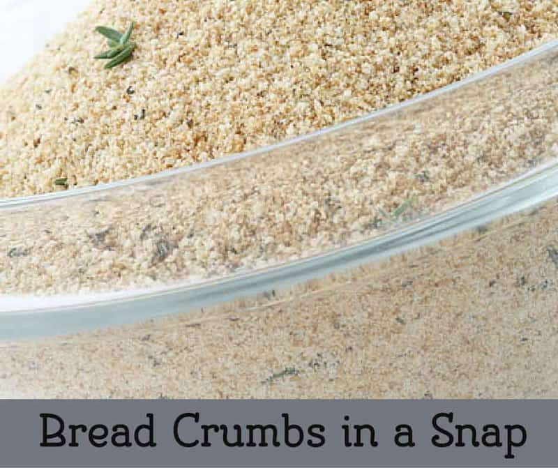 How to make bread crumbs fast