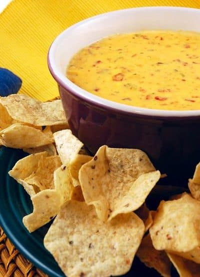 cheese dip in a bowl