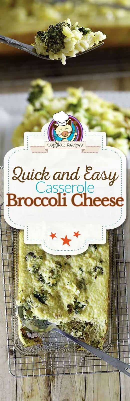 You can make this delicious quick and easy broccoli cheddar casserole.