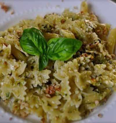 pesto made with pecans