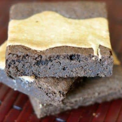 Marbled brownies have a layer of cream cheese mix right in.