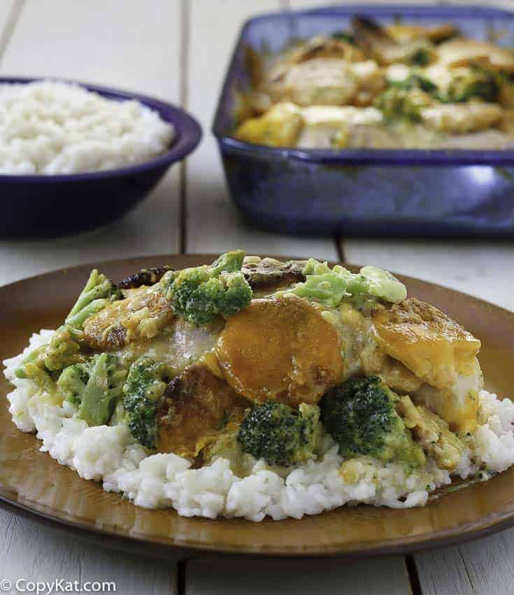 Make your own version of the Cracker Barrel Broccoli Cheddar Chicken at home.