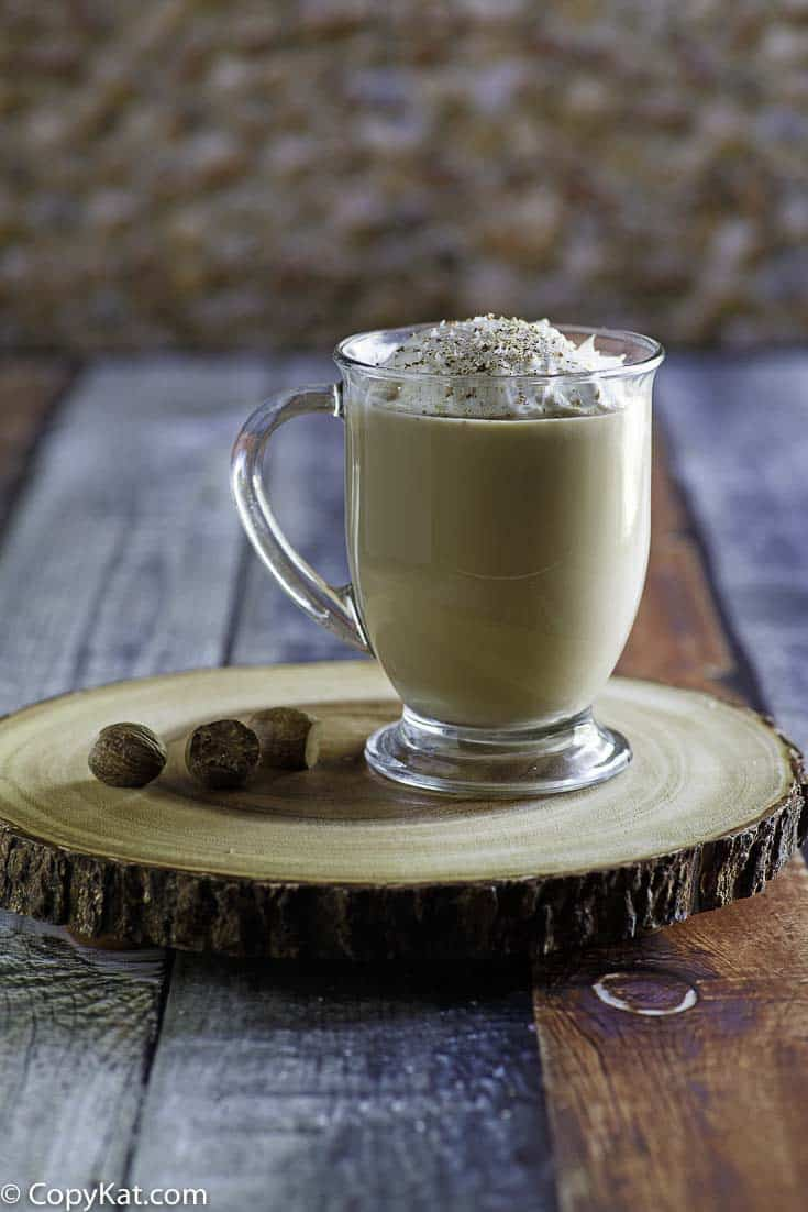 Make your own Starbucks Egg Nog Latte at home with this copycat recipe.