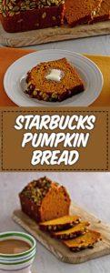 a loaf of starbucks pumpkin bread