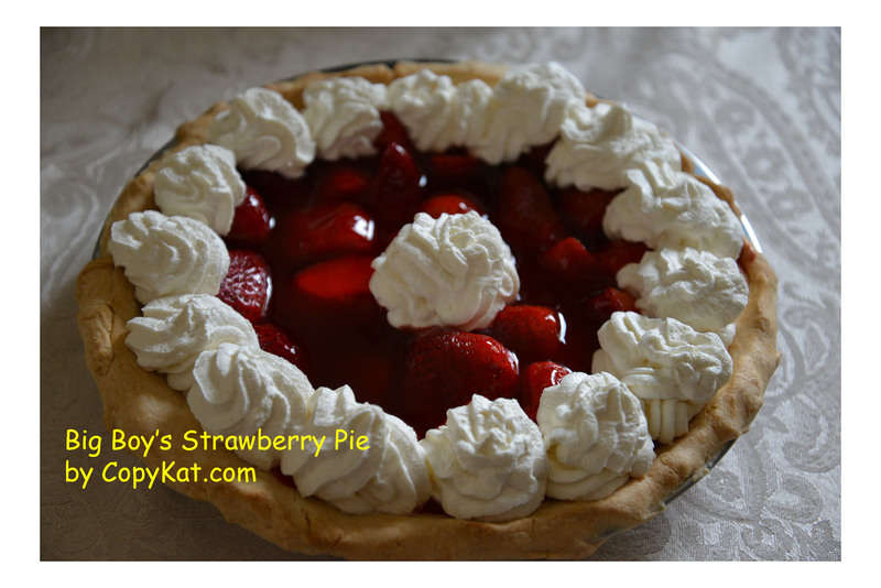 A strawberry pie