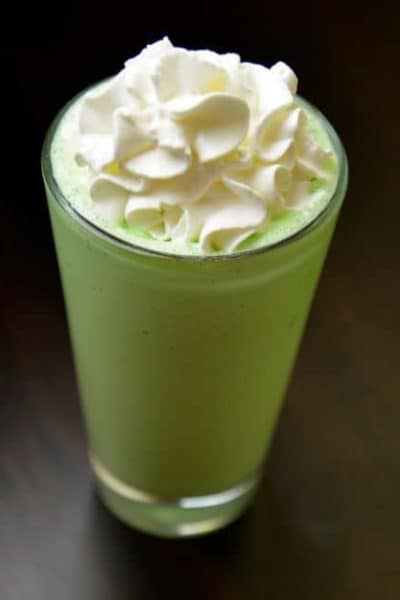 a minty shake like mcdonalds menu item