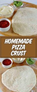 homemade pizza crust on a plate