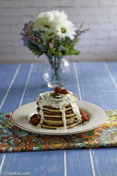 You can recreate the IHOP Cinn-a-stax at home with this easy copycat recipe.