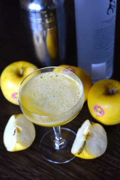 Cocktail made with Opal Apples and Vodka