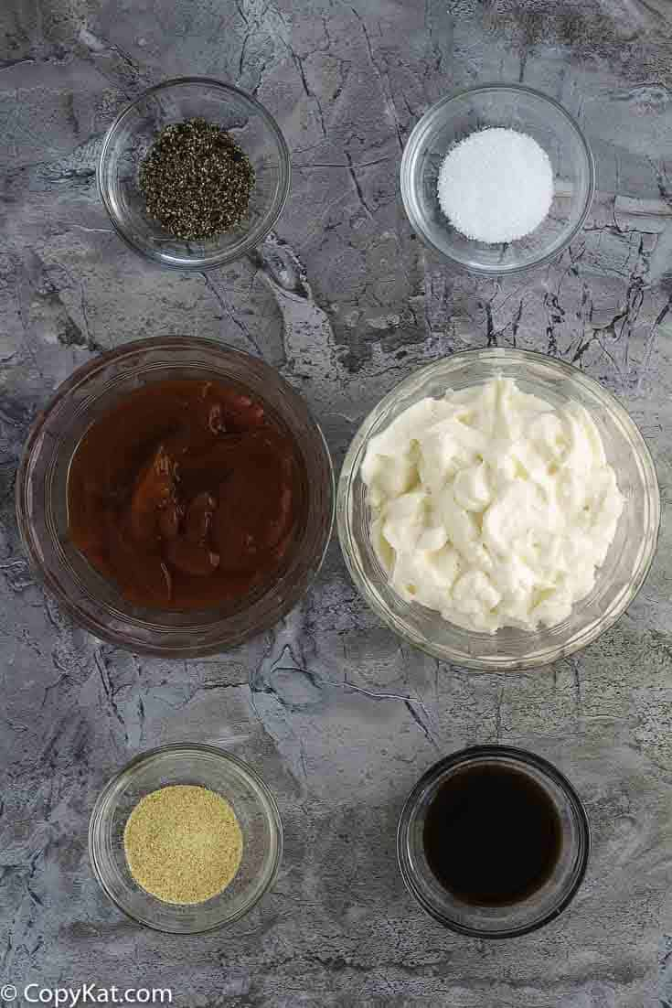 Ingredients for copycat Raising Cane's dipping sauce recipe