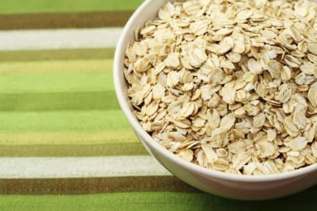 a bowl of rolled oats