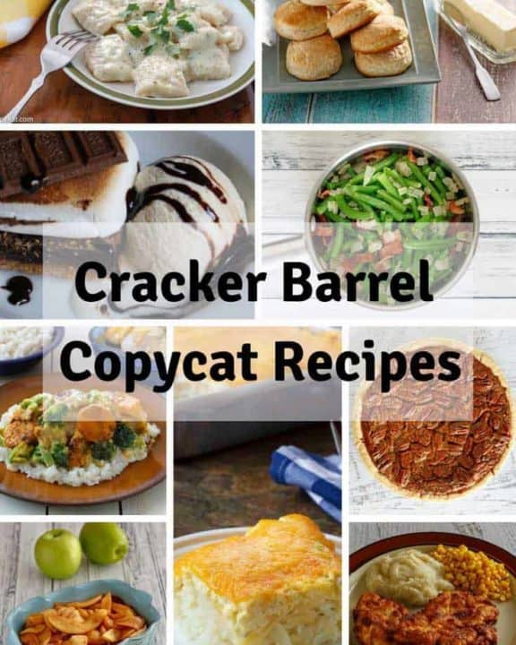 Cracker Barrel favorite recipes photo collage