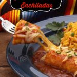 Cheese Enchiladas and rice on a plate