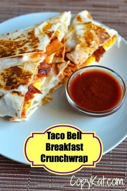 Taco Bell Breakfast Crunch Wrap from CopyKat.com