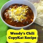 Make a bowl of Wendy's Chili with this CopyKat Recipe