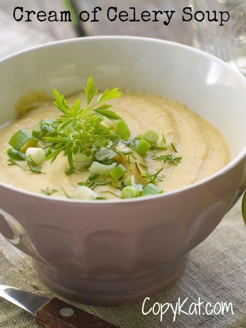 This is a cream of celery soup recipe