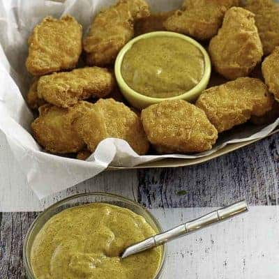 hot mustard and chicken nuggets