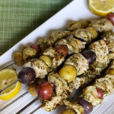 tastefulseclections potato chicken pesto kabob