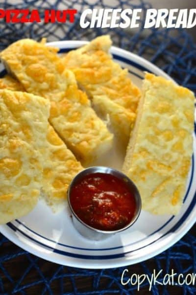 Try this Pizza Hut Cheese Bread from CopyKat.com