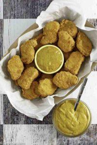 copycat McDonald's Hot Mustard and chicken nuggets
