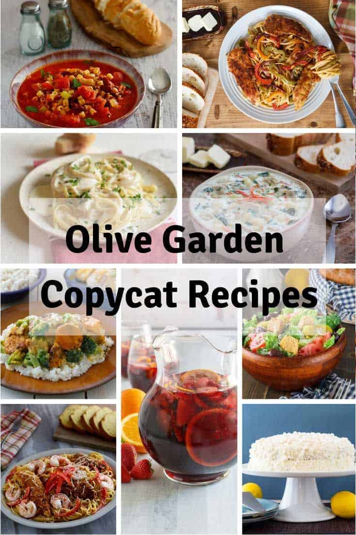 Collage of homemade copycat Olive Garden Copycat Recipe photos