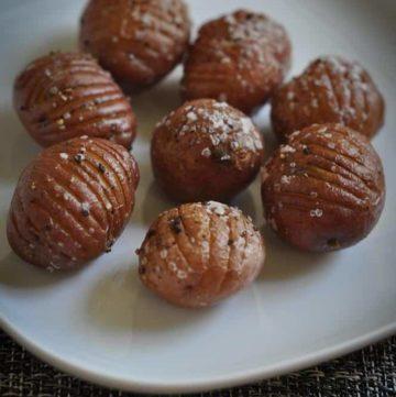 Mini Hassleback Potatoes from CopyKat.com