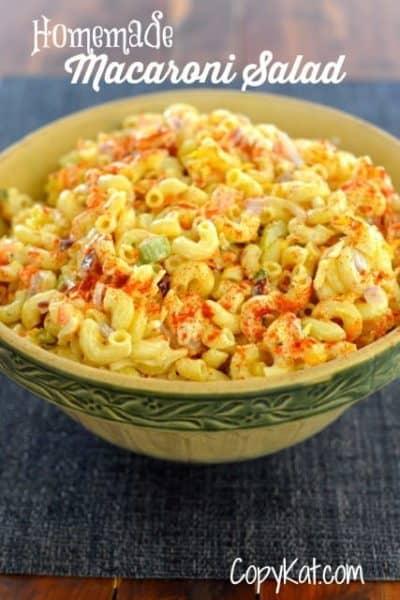 homemade macaroni salad from CopyKat.com
