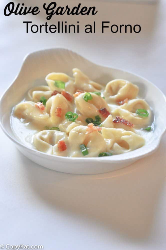 Tortellini al Forno in a serving dish