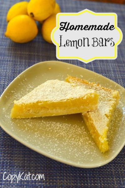 Try this easy lemon bar recipe from CopyKat.com