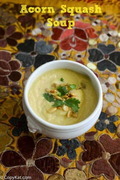 Try this Acorn Squash Soup from CopyKat.com
