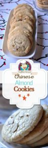 Chinese Almond Cookies photo collage