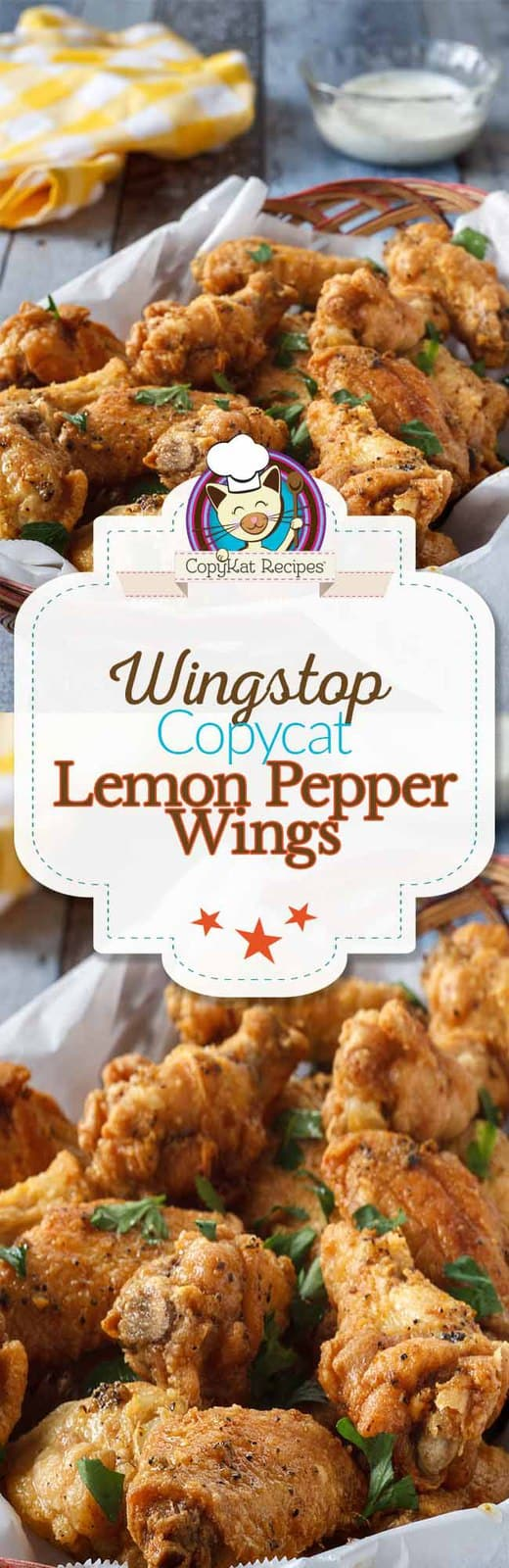 Enjoy these Wingstop Lemon Pepper Wings when you make them at home with this copycat recipe! #copycat #recipe #appetizer #chicken #wing #wingstop