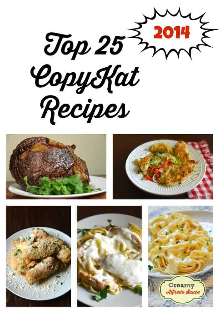 Top 25 CopyKat Recipes 2015