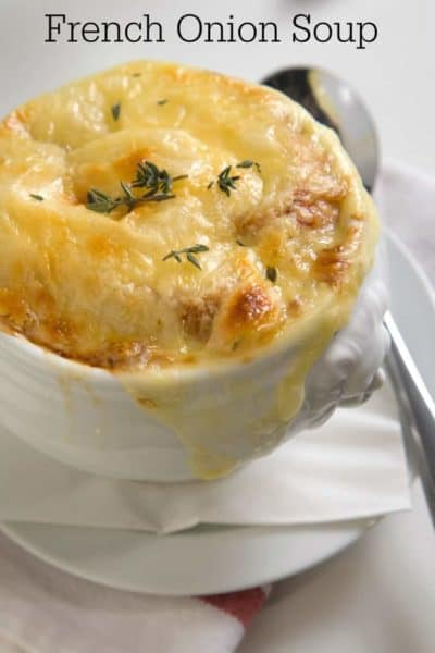 Prepare this homemade french onion soup from CopyKat.com