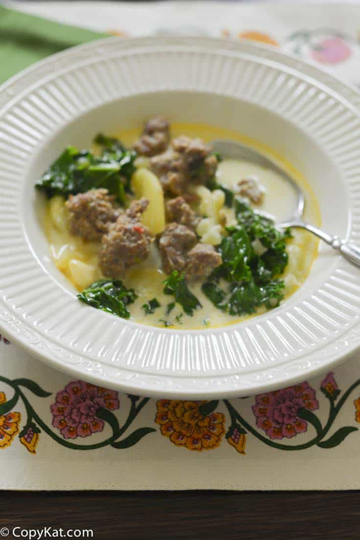 Try this Slow Cooker Olive Garden Zuppa Toscana recipe from CopyKat.com