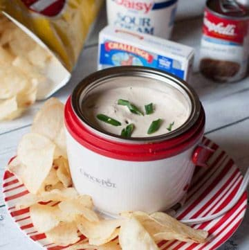 You can prepare this hot French Onion Dip from CopyKat.com, this has just three ingredients.